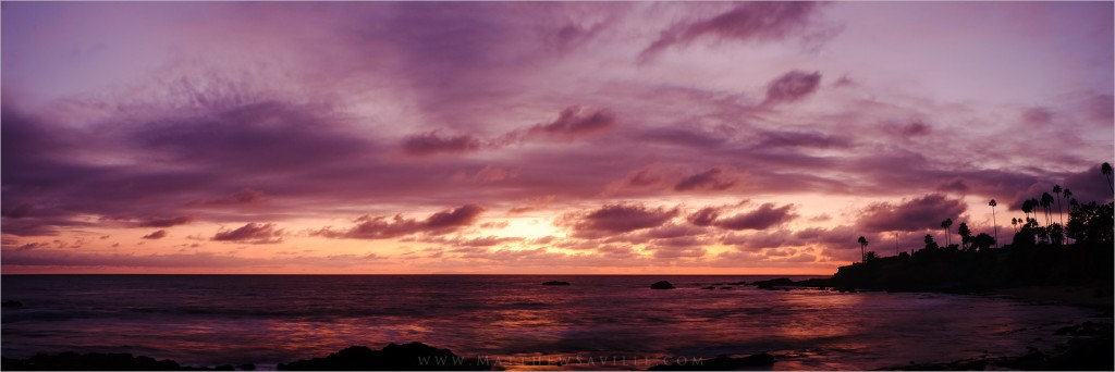 Laguna Beach Sunset Panorama 02